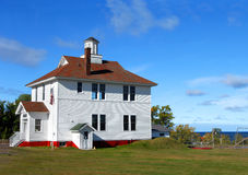 Restored School House in Michigan stock images