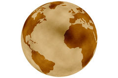 Historic earth globe Stock Image