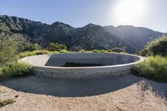 Historic Echo Mtn Resort Reservoir Ruin near Los Angeles Califor. Historic resort reservoir ruin on top of Echo Mtn in the Angeles National Forest above Pasadena Stock Photo