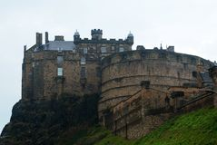 Historic Edinburgh Castle on Castle Rock Stock Photography