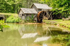 Historic Edwin B. Mabry Grist Mill (Mabry Mill) in rural Virgini Stock Photo