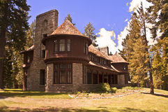 Historic Ehrman Mansion. In Sugar Pine Point State Park on the California shore of Lake Tahoe royalty free stock photo