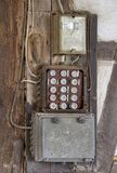 Historic electrical fuse box stock photos
