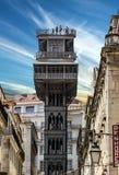 Historic Elevator Santa Justa, Lift In Lisbon, Portugal. Elevador De Santa Justa Stock Image