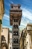 Historic elevator Santa Justa, lift in Lisbon, Portugal. Stock Image