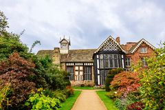 Timber framed Elizabethan mansion in North England. Stock Photos