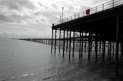 Historic English Pier. Old pier at Southend, Essex, last of a dying breed Royalty Free Stock Photos