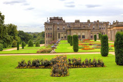 Historic English Stately Home. Formal gardens at the Lyme Hall in Chesire, England Royalty Free Stock Photo