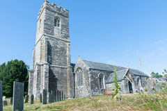 Historic English stone church. Royalty Free Stock Photos