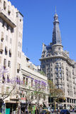 historic European building of downtown Buenos Aires Stock Photography