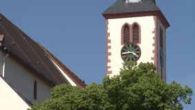 Historic european church stock video
