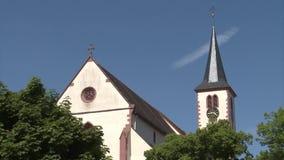 Historic european church stock footage