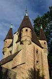 Historic FÜNFGRATTURM tower in Augsburg, Germany Stock Photos
