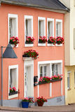 Historic facade. Of the house in town Saarburg, Rhineland-Pfalz, Germany Stock Image