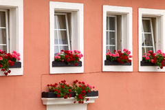 Historic facade. Of the house in town Saarburg, Rhineland-Pfalz, Germany Royalty Free Stock Photography