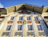 Historic facade. In bad toelz - bavaria Stock Photos