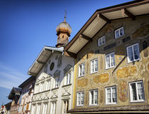Historic facade. In bad toelz - bavaria Royalty Free Stock Image