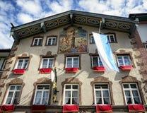 Historic facade. In bad toelz - bavaria Stock Image