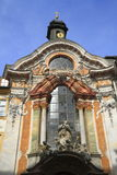 Historic facade of the baroque Asam Church Royalty Free Stock Images