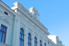 The historic facade. Elevation of the historic building Stock Photography