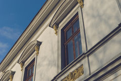 The historic facade. Elevation of the historic building Royalty Free Stock Photo
