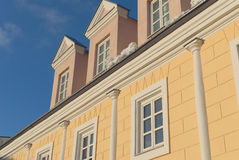 The historic facade. Elevation of the historic building royalty free stock photos
