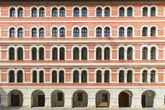 Historic facade Graz. Image of a red historic facade in town Graz, Austria Stock Images