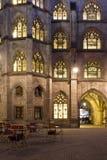 Historic Facade with illuminated windows Royalty Free Stock Photo