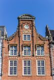 Historic facade at the main market square of Haarlem Royalty Free Stock Photos