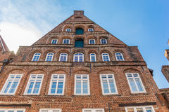 Historic facade in the old center of Luneburg. Germany Royalty Free Stock Photography