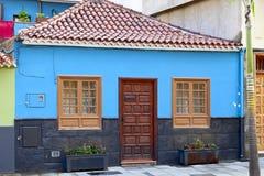 Historic facade. Old historic facade in Puerto de la Cruz, Tenerife, Canary Islands, Spain Royalty Free Stock Photo