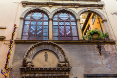 Historic facade with restaurant sign in Florence. Tuscany, Italy Royalty Free Stock Image