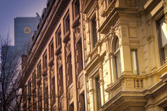 A historic facade of a wonderful building in frankfurt Royalty Free Stock Photography
