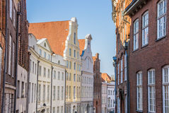 Historic facades in the center of Lubeck Stock Photos