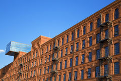Historic factory building style. Royalty Free Stock Photos