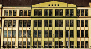 Historic factory facade Royalty Free Stock Photography