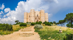 Historic and famous Castel del Monte in Apulia, southeast Italy Royalty Free Stock Photos