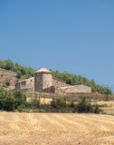 Historic farm in Catalunya (Spain). At summer stock photography