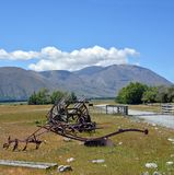 Historic Farm Equipment at Mesopotamia Station New Zealand stock photography