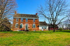 Historic Farm House. Historic 18th Century Farm House located in Delaware. Built 1750 Stock Image