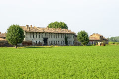 Historic farm near Pavia Royalty Free Stock Photos