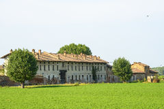 Historic farm near Pavia Stock Images