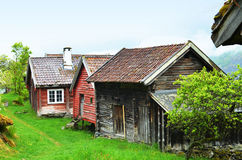 Historic Farm in Norway. Otternes , peaceful village with fjord views royalty free stock photo