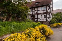 Historic farmhouse in Hesse. A Historic farmhouse in Hesse royalty free stock photo