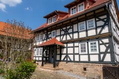 Historic farmhouse in Hesse. A Historic farmhouse in Hesse stock image