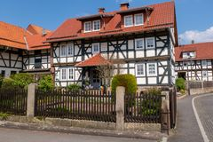 Historic farmhouse in Hesse. A Historic farmhouse in Hesse royalty free stock images