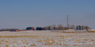 Historic farmstead on country Road Stock Photography