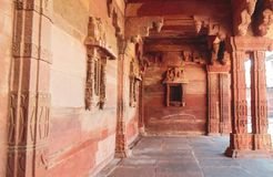 Historic Fatehpur Sikri buildings in Agra, India royalty free stock image