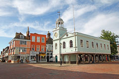 Historic faversham market place royalty free stock photo