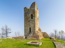 Historic feeling comes out of Ruins of medieval fortress Royalty Free Stock Images